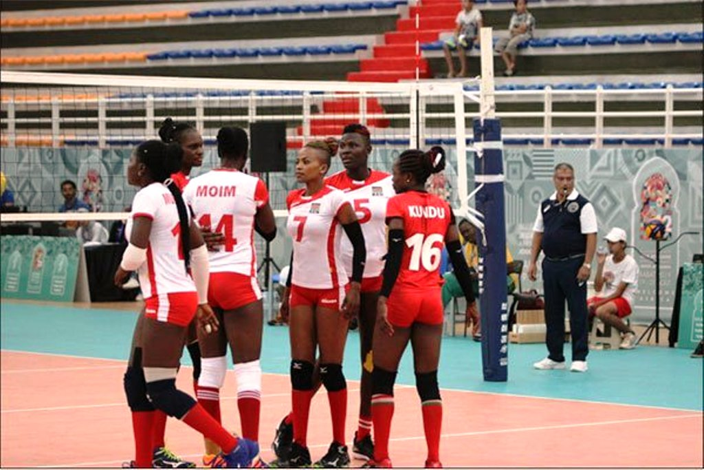 Malkia Strikers plotting against Nigeria in the women's vollyball semi-finals in Rabat on Wednesday