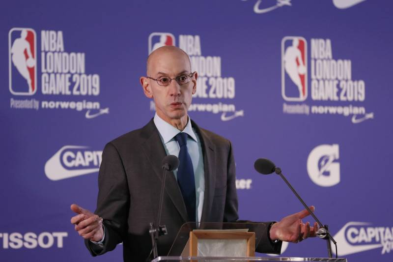 The NBA (National Basketball Association) commissioner Adam Silver