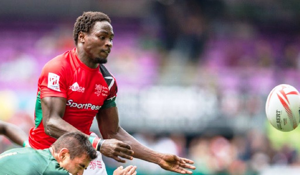 TOP: Destined to lead … long serving Kenya Sevens captain Andrew Amonde could not get a bigger approval of his leadership than from President Uhuru Kenyatta. Above: Nelson Oyoo … several HSBC Sevens World Series seasons under his belt expected to be one of the major contributors to a good run in the new edition