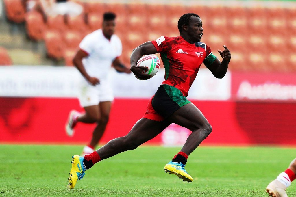 The young flying legs of Daniel Taabu in the Kenya Sevens