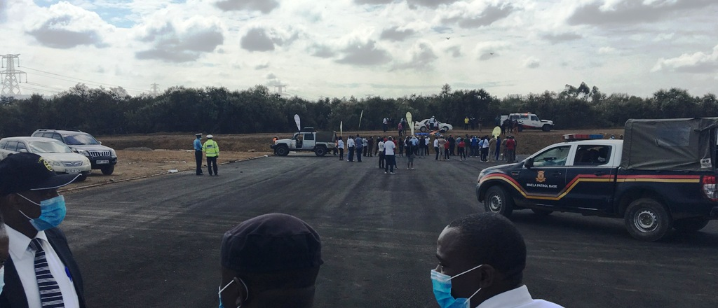 At Service Park, Naivasha, Wednesday, Kenya Police were on top of their security and safety plan