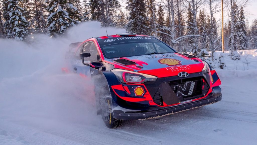 Oliver Solberg in the Finland Rally 2021 action