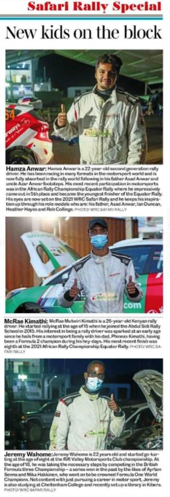 How the 'Daily Nation' newspaper described Kenya's heroic youngsters. Pictures/Courtesy 'DAILY NATION'